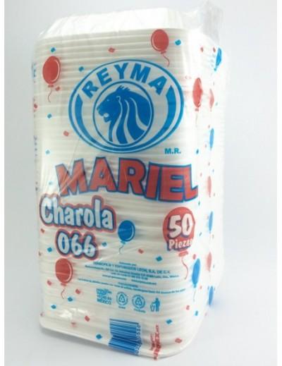 CHAROLA PARA HAMBURGUESA CON 50 PZAS