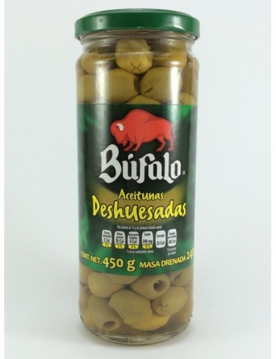 ACEITUNA DESHUESADA BUFALO 450GR