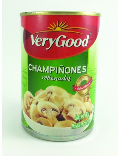 CHAMPIÑON REBANADO VERY GOOD 186GR