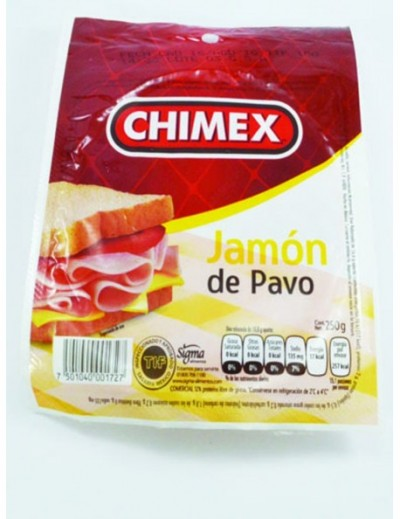 JAMON CHIMEX DE PAVO 250GM