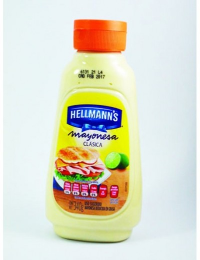 MAYONESA SQUEEZABLE  340GR HELLMANS