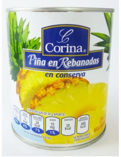 PIÑA REBANADA CORINA / PARMERIA 800GR