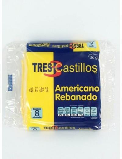 AMARILLO REBANADO TRES CASTILLOS 8 REBANADAS